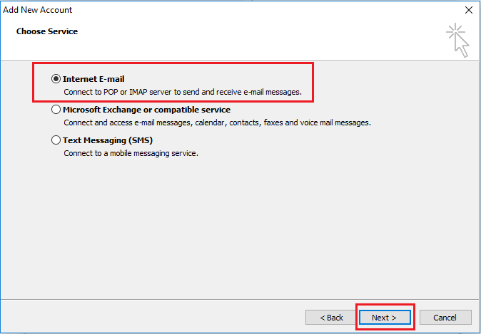 Email Setup Outlook 2010
