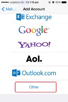 Email Setup IOS