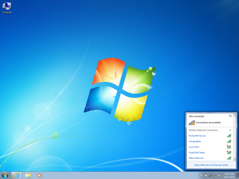 Wi-Fi setup guide Windows 7